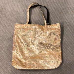 New Victoria Secret Gold Sequin Tote